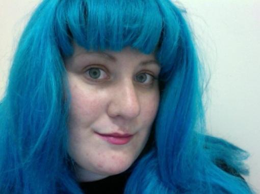 blue hair =  space?